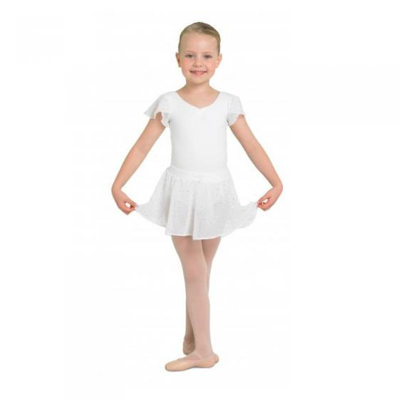 Bloch Olesia CR5161 Kinder-Wickelrock Ballett weiss