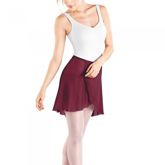 So-Danca 8131 Georgette Wickelrock in bordeaux-rot