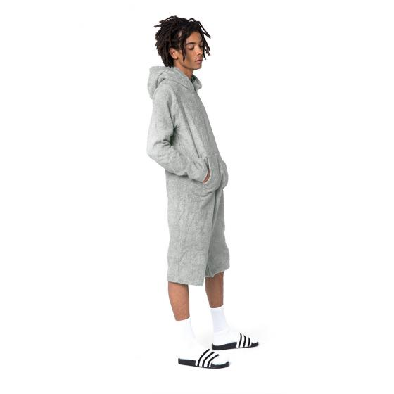 Onepiece Frottee Jumpsuit grau