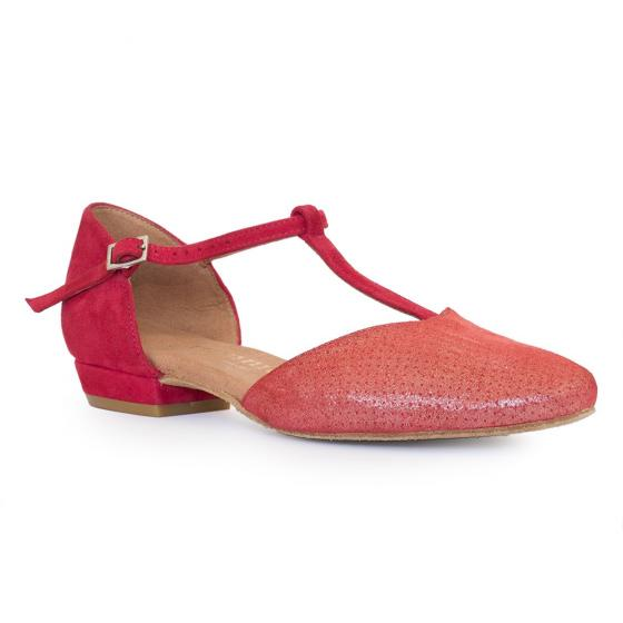 roter flacher Swing Tanzschuh Rummos Carol Mait red